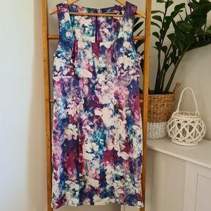 Basque Floral Midi Dress Size 14